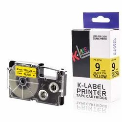 Casio Label Cassette Black on Yellow 9mm XR-9YW 100% Compatible Label Tape for Casio Label Printers