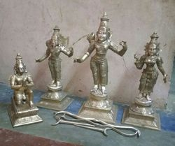 Sri Ram, Sri Sita, Lakshmana and Anjaneyaswamy Statue