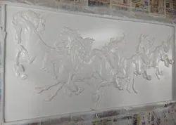 MDF 3D Horse Wall Design