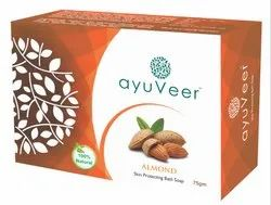 Ayuveer Almond Soap, Packaging Size: 75gms