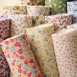 Floral Print Cotton Fabric, Multicolour