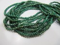 Green Onyx Hydro Quartz Rondelle Faceted Beads