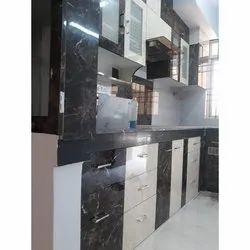 PVC L Shape WPC Board Modular Kitchen, Warranty: 10-15 Years
