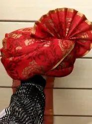 Floral Print Wedding Safa Pagdi For Barati