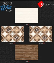 Ceramic Tiles Polished 18153 Bathroom Wall Tile, Thickness: 5-10 mm
