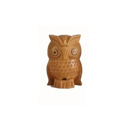 Wooden Owl Statue