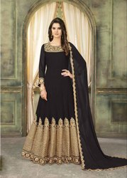 Semi-Stitched Embroidery Bollywood Replica Anarkali Suits