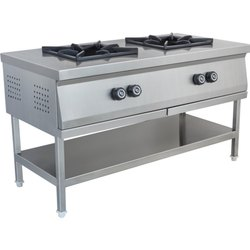 Counter With Two Burner Gas Range