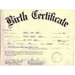 Birth Certificate Issuance