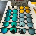 Flat Wayfarer Type Sunglasses