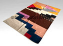 Woven Abstract Trendy Cotton Carpets, Size: 4x6 Feet