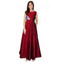 L And Xl Designer Maroon Gown