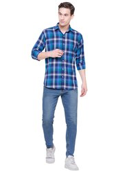 Multicolor Cotton Men's Casual Shirts