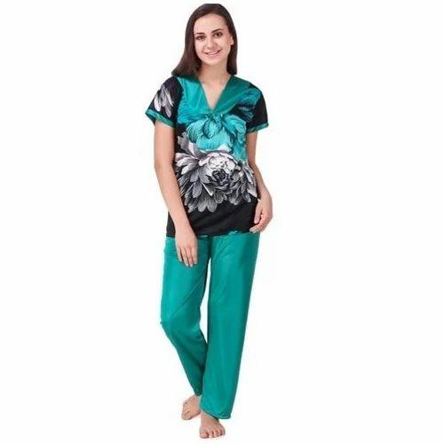 Full Length Female Ladies Pyjama Set, 36, Free Size