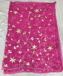 Chiffon Jal Work Pink Diamond Saree
