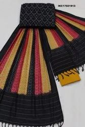 Ikat Cotton Saree Dress Material