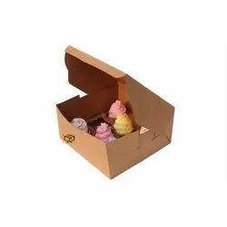 8 Cavity Brown Cupcake Box