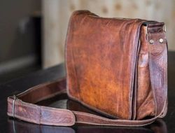 Leather Laptop Bag, Messenger Bag, Office Bag, Briefcase, Executive Bag, Cross Body Bags