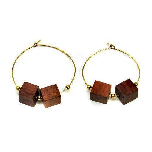 Bali Wooden Earrings