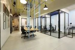 Corporate office Frame less  Glass Partition