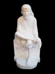 Raj Creations White Sai Baba Statue