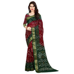 Art Silk Printed Bandhani Saree