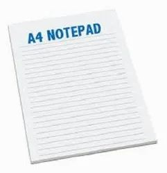 NOTE PAD A4 SIZE PAPER, For Office And Institutional, Packaging Type: Plain