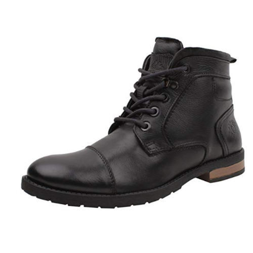 9419dca64f30 Mens High Ankle Leather Black Boot