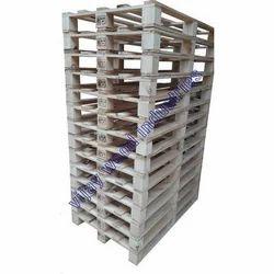 Rectangular Rubber Wood Heat Treated Wooden Pallet