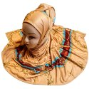Floral Printed Jersey Stretchable Hijab Scarf For Women