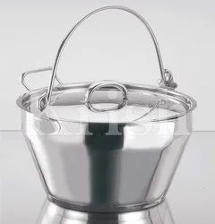 SS Maslin Pan with Cover - 9 Ltrs