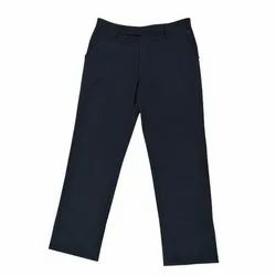 Navy Blue Cotton Boys School Trouser