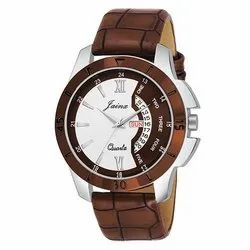 Jainx Brown Day and Date Functioning Analogue Watch for Men & Boys JM315