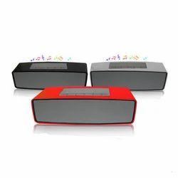 Rectangular Black,Grey and Red Bluetooth Speaker, 5 W