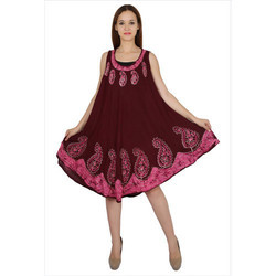 afa0ba292a4 Multicolor Freesize Ladies Batik Rayon Umbrella Dress
