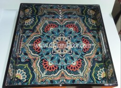 Decorative Enameled Coated Serving Tray