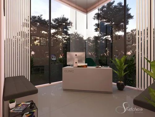 Modern Drawing Room 3D Rendering Services
