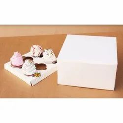 6 Cavity White without Window Cupcake Box