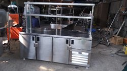 Stainless Steel Table Top Refrigerator