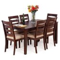Wooden Brown Dining Table Set