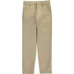 Mens Cotton Cream Trouser