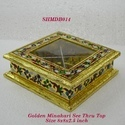 Meenakari Dry Fruit Box Square