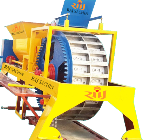 Solid Clay Brick: Double Die Rotary Type Brick Machine At Rs 1200000 /unit