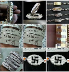 gents silver kada,punjabi silver kada,sikh name kada,925 bahubali kada,jain navkar mahamantra kada
