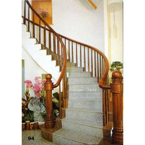 Sheesham Wood Wooden Stair Railing