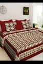 Cotton Double Bed Sheet With Pillow Covers