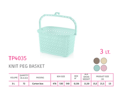 Knit Peg Basket