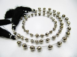 Aaa Quality Silver Pyrite Onion Shape Beads, Strand 8 Inches.