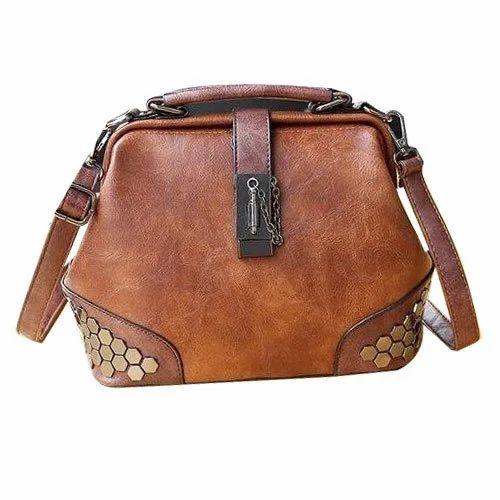 1c4c83aefc Brown Ladies Genuine Leather Backpack