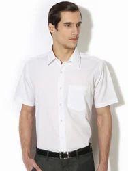 Mens White Comfort Formal Shirts